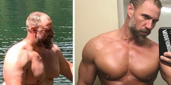 (ВИДЕО+ФОТО) Не можел да се движи од дебелина: За само 5. месеци симнал 42. килограми и почнал да се дружи со своите три сина!