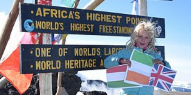 (ФОТО) ДЕВОЈЧЕ ЗА ВОСХИТ: Има само 6. години, а веќе два пати го освоила Килиманџаро
