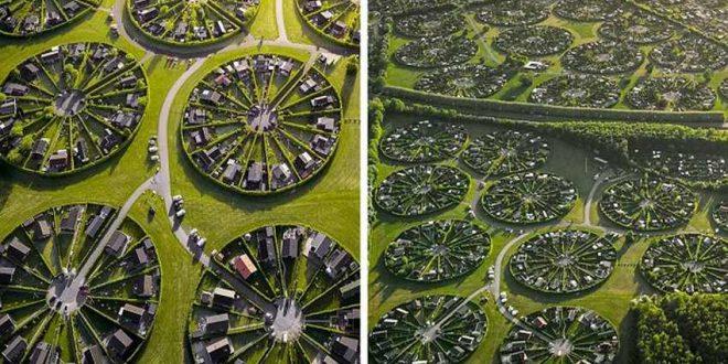 (ВИДЕО) Како е да се живее во кружно село-бајка каде сите жители се свртени едни кон други!