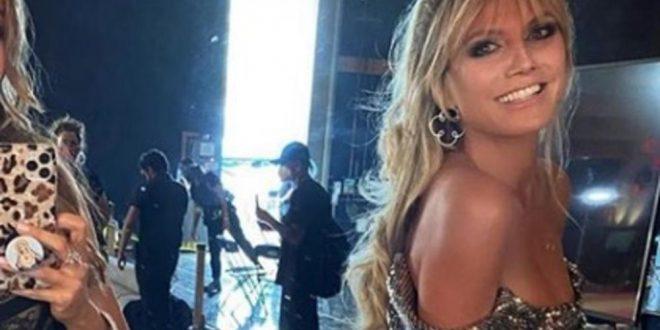 (ФОТО) ИЗНЕНАДИЛА – ХАЈДИ КЛУМ ПОТПОЛНО ГОЛА: Манекенката шокирала со новата фотографија на која не е САМА!