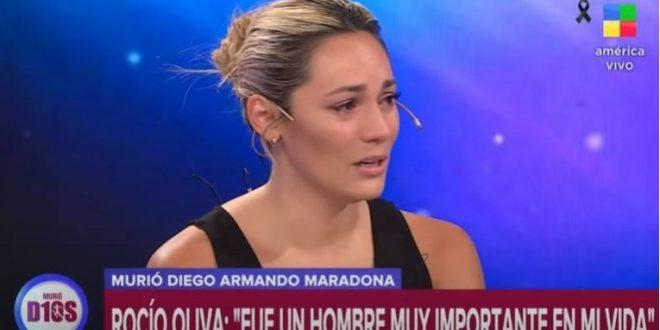 """(ФОТО) Последната девојка на Марадона плаче на ТВ: """"Неговото семејство не ми дозволува да се простам!"""""""