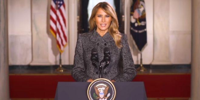 """(ВИДЕО) Порака за збогување на Меланија Трамп: """"Мислам на сите луѓе кои останаа во моето срце, на нивните неверојатни приказни за љубовта, патриотизмот и одлучноста"""""""