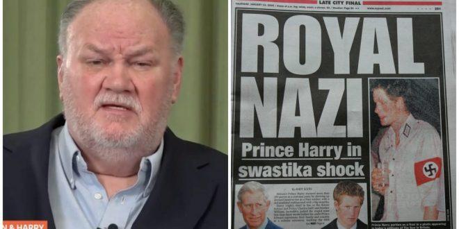 """(ФОТО) Таткото на Меган Маркле го нападнал Хари: """"Барем не носев униформа на Хитлер!"""""""