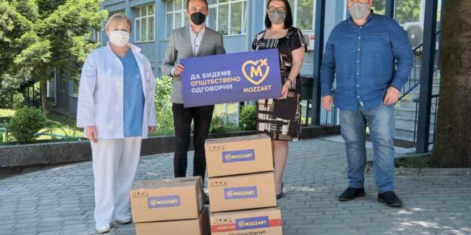 ДОНАЦИЈА ОД СРЦЕ – MOZZART обезбеди ЕКГ апарати за болницата во Битола